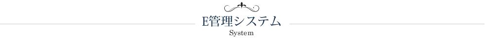 E管理システム